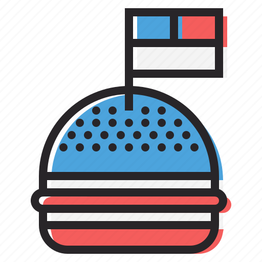 american, burger, celebration, flag, hamburger, independence day, july 4th icon