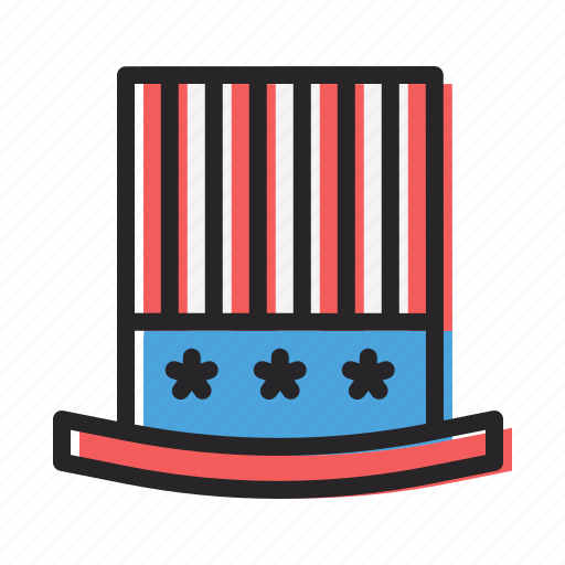america, american, celebrate, fourth of july, hat, independence day, july 4th icon