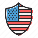 america, american, flag, insignia, july 4th, reward, shield icon