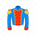 cartoon, epaulettes, french, history, military, soldier, uniform icon