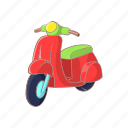 cartoon, french, moped, motor, motorbike, motorcycle, scooter icon