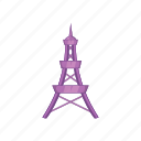 cartoon, eiffel, france, paris, tourism, tower, travel icon