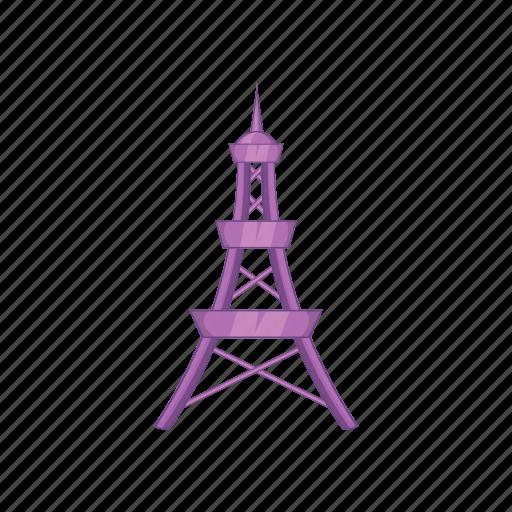 cartoon, eiffel, france, paris, tourism, tower, travel icon