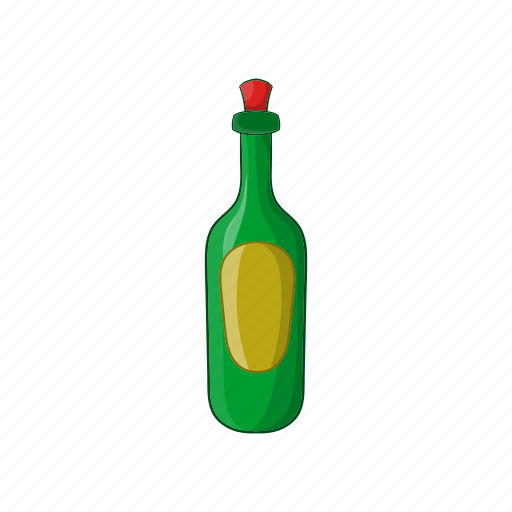 alcohol, beverage, bottle, cartoon, drink, france, wine icon