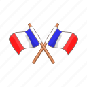 cartoon, country, flag, france, illustration, nation, national icon