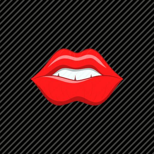 beauty, cartoon, female, kiss, lip, makeup, mouth icon