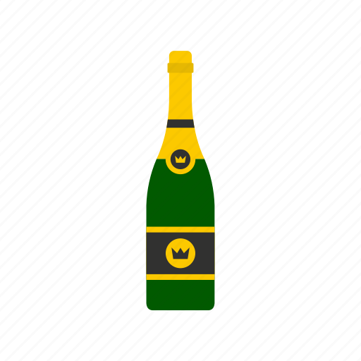 alcohol, bottle, champagne, drink, glass, holiday, wine icon