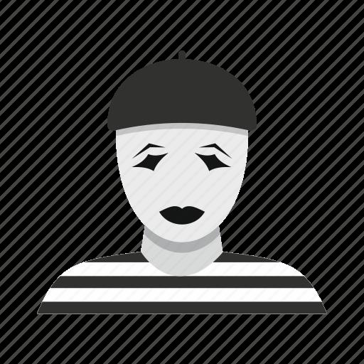 architecture, beret, clown, french, tour, tourist, travel icon