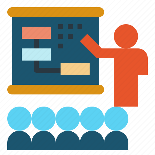 meeting, presentation, teach, training icon