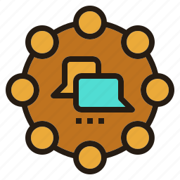 brainstorming, community, conversation, discussion, talk icon