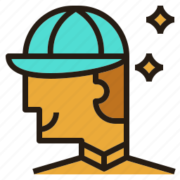 avatar, cap, employee, man, smart icon