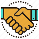 agree, deal, hand, partner, shake, shakehand, team icon