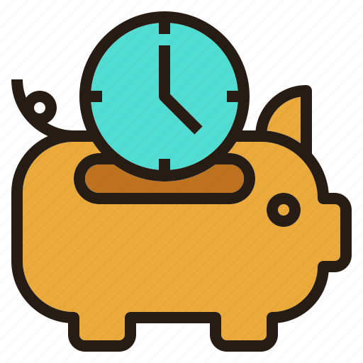 business, guardar, piggybank, save, time icon