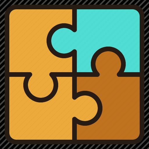 problem, puzzle, solve, team, teamwork icon
