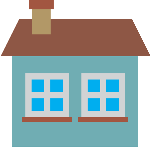 back, estate, home, house, window icon