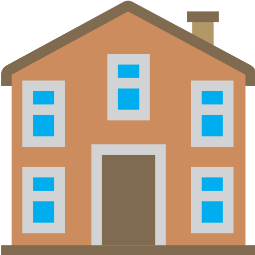 building, estate, front, home, house, huge, view icon