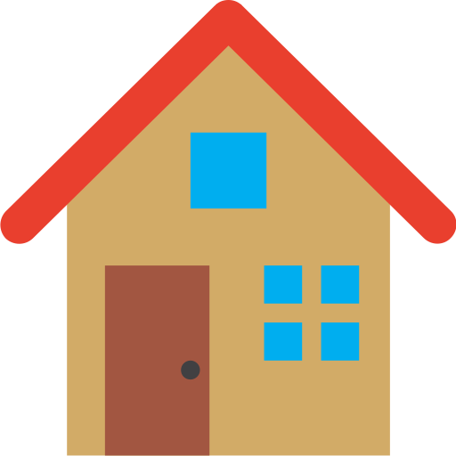 architecture, estate, home, house, small icon
