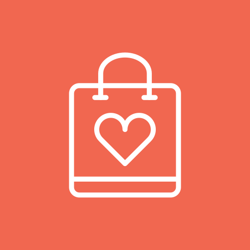 bag, ecommerce, heart, online, shopping icon