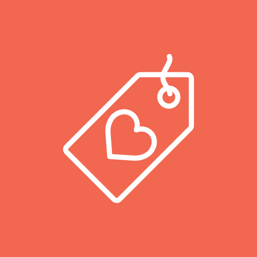 heart, label, love, shopping, tag icon