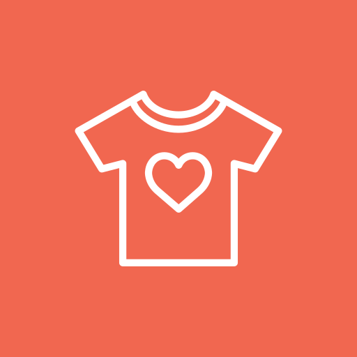 fashion, heart, like, romance, shirt icon