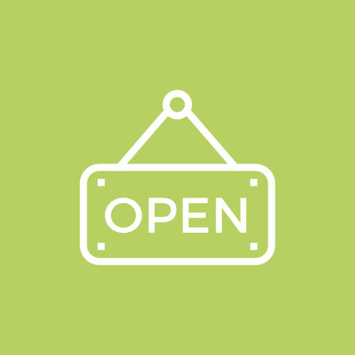 banking, dollar, money, open, sign icon