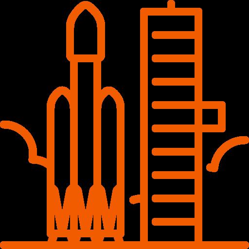 falcon, heavy, launch, pad, rocket icon