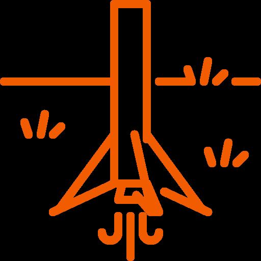 falcon, land, landing, rocket icon