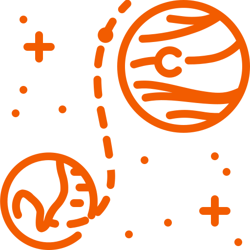astronomy, earth, mars, planet, space icon