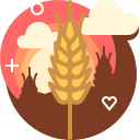 bakery, farm, field, ranching, rye, wheat, yumminky icon
