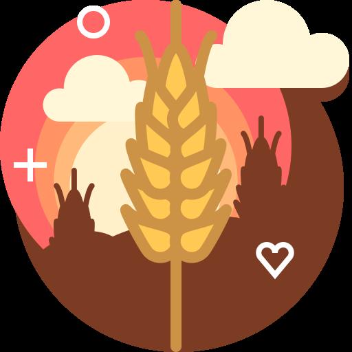 bakery, farm, field, ranching, rye, wheat, yumminky icon