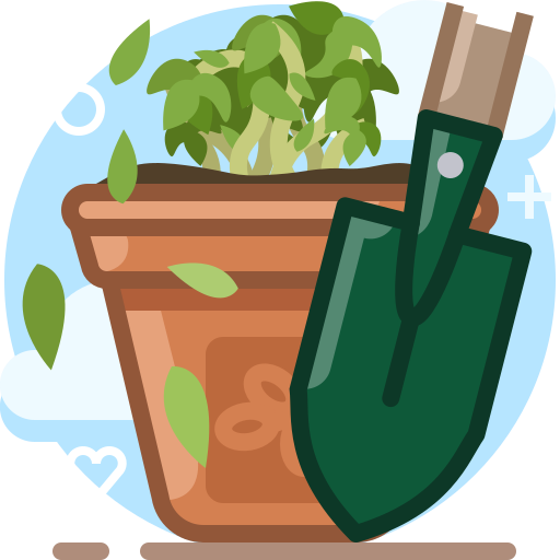 bio, garden, gardening, plant, pot, scoop, yumminky icon
