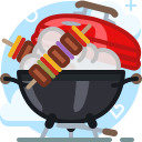 barbecue, cooking, food, garden, grill, party icon