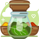 basil, herbs, ingredients, pepper, seasoning, spices, yumminky icon