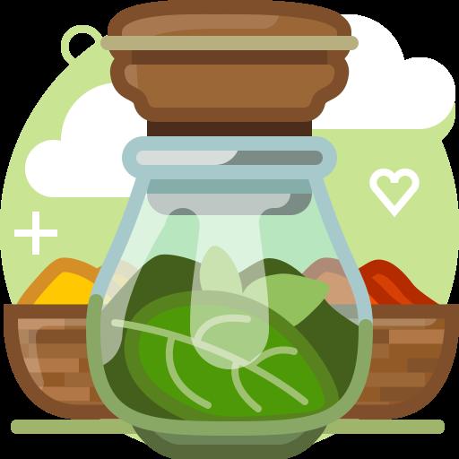 basil, herbs, ingredients, pepper, seasoning, spices, yumminky icon