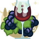 bunch, drink, glass, grape, vineyard, wine, yumminky icon