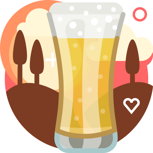 alcohol, beer, drink, glass, pub, tavern, yumminky icon