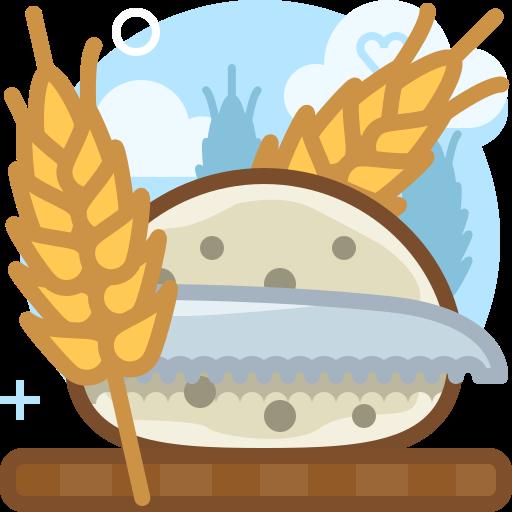 bread, cutting, food, knife, rye, wheat, yumminky icon