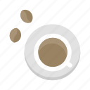 bean, coffee, cup, drink icon
