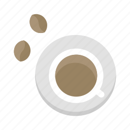 bean, beverage, coffee, cup, drink, hot, restaurant icon