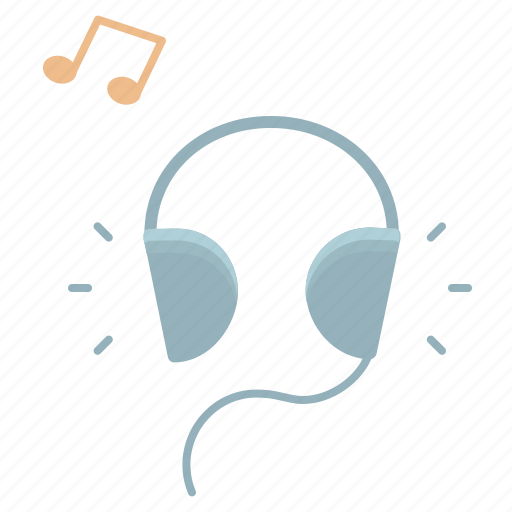 audio, headphones, listening, music, note, play, sound icon