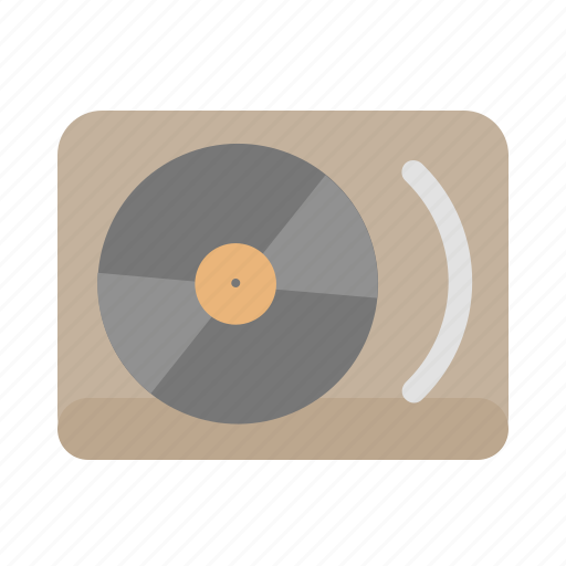 hipster, music, turntables, vinyl icon