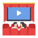 cinema, movie, watching, entertainment, couple, romantic