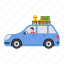 car, driving, vacation, travelling, hobby, outdoor, luggage