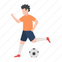 footballer, soccer player, hobby, playing, activity