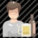 beer, drink, food, mug, people, pint icon