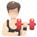 dumbbell, dumbbells, gym, people, sports, weight, weights icon