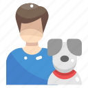 animal, avatar, boy, dog, people, pet
