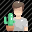 cactus, gardening, nature, people, plant, planting, plants