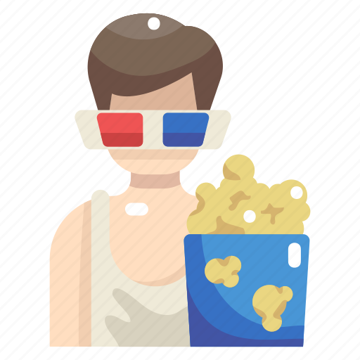 3d glasses, cinema, entertainment, food, movie, popcorn, snack icon - Download on Iconfinder