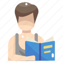book, education, learning, library, reading, student, studying icon